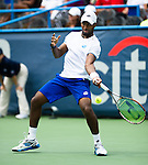 Donald Young (USA) advances to the semifinal after defeating Kevin Anderson (RSA) 36 76(3) 62 at the Citi Open in Washington, DC on August 1, 2014.