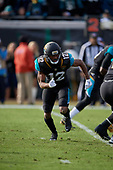 Jacksonville Jaguars Dede Westbrook (12) in motion during an NFL Wild-Card football game against the Buffalo Bills, Sunday, January 7, 2018, in Jacksonville, Fla.  (Mike Janes Photography)