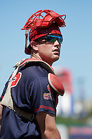 Peoria Chiefs catcher Brian O'Keefe (32) during the first game of a doubleheader against the South Bend Cubs on July 25, 2016 at Four Winds Field in South Bend, Indiana.  South Bend defeated Peoria 9-8.  (Mike Janes/Four Seam Images)