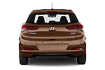 Straight rear view of 2015 Hyundai I20 Intro Edition 5 Door Hatchback Rear View  stock images
