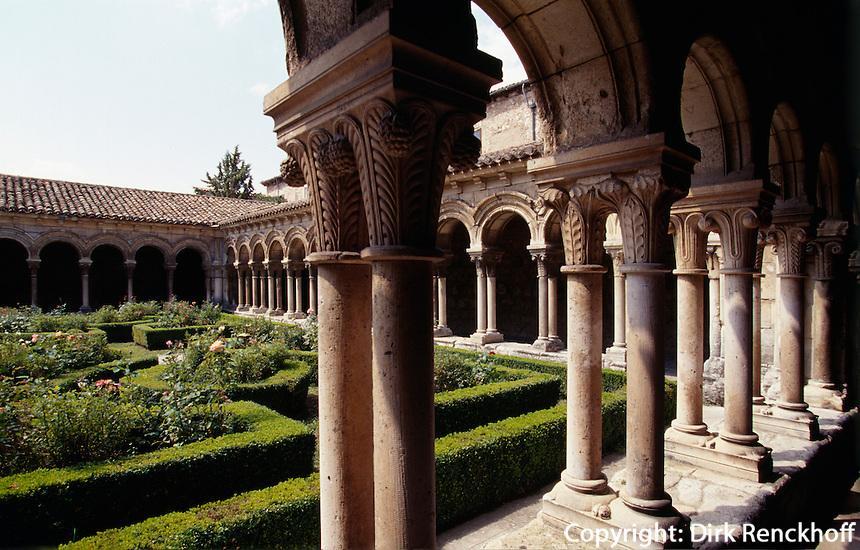 Kreuzgang in Kloster Las Huelgas, Burgos, Kastilien-León, Spanien.