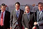 Spanish tennis player Rafael `Rafa´ Nadal accompanied by Real Madrid President Florentino Perez attends the 75th Anniversary Marca Awards ceremony at Callao cinema in Madrid, Spain. November 26, 2013. (ALTERPHOTOS/Victor Blanco)