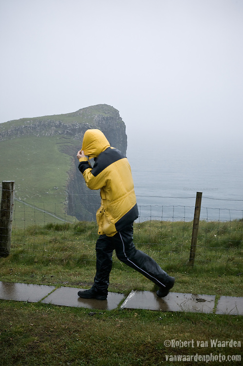 A stormy day on the Isle of Skye, Scotland.