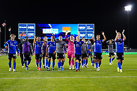 SAN JOSE, CA - MAY 1: The San Jose Earthquakes celebrate during a game between D.C. United and San Jose Earthquakes at PayPal Park on May 1, 2021 in San Jose, California.