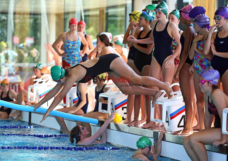 St Cuthberts College Swimming Sports, 18 February 2015 February 2015. Photo: Simon Watts/ www.bwmedia.co.nz <br /> All images © BWMedia.co.nz