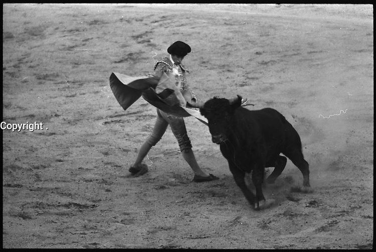 5 Octobre 1969. Vue de la corrida de Simon Casas dans les arènes de Toulouse.
