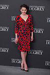 Andrea Duro poses for the photographer during '50 Shades of Grey' film premiere in Madrid, Spain. February 12, 2015. (ALTERPHOTOS/Victor Blanco)