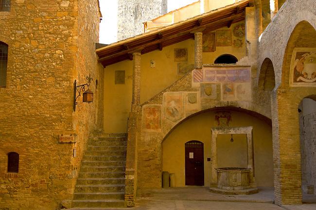 Medieval housesof Town Museum - San Gimignano - Italy