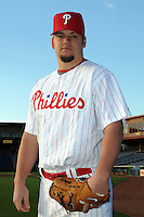 Feb 20, 2009; Clearwater, FL, USA; The Philadelphia Phillies pitcher Joe Blanton (56) during photoday at Bright House Field. Mandatory Credit: Tomasso De Rosa/ Four Seam Images