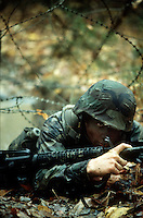 U.S. Marines Officer Candidate School combat training, Quantico, Virginia.