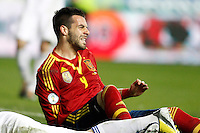 Spain's Alvaro Negredo dejected during international match of the qualifiers for the FIFA World Cup Brazil 2014.March 22,2013.(ALTERPHOTOS/Acero)