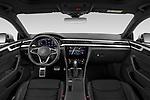 Stock photo of straight dashboard view of 2021 Volkswagen Arteon SEL-Premium-R-Line 5 Door Hatchback Dashboard