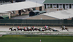 September 3, 2012. Undercard races and scene at Parx Racing on Turf Monster/Smarty Jones Stakes Day. Down the backstretch in race 7, a claiming race for three years olds and upward who have never won three races. (Joan Fairman Kanes/Eclipse Sportswire)