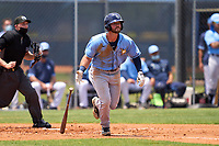 Tampa Bay Rays Evan Edwards (18) bats during a Minor League Spring Training game against the Atlanta Braves on April 25, 2021 at Charlotte Sports Park in Port Charlotte, Fla.  (Mike Janes/Four Seam Images)
