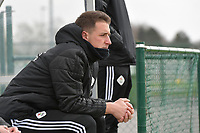 Head coach Jimmy Coenraets of OHL pictured during a female soccer game between Club Brugge Dames YLA and Oud Heverlee Leuven on the first matchday in Play-Off 1 of the 2020 - 2021 season of Belgian Scooore Womens Super League , saturday 3 th April 2021  in Brugge , Belgium . PHOTO SPORTPIX.BE | SPP | DIRK VUYLSTEKE