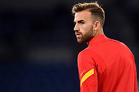 Borja Mayoral of AS Roma looks on during the warm up prior to the Serie A football match between AS Roma and Benevento Calcio at Olimpico stadium in Roma (Italy), October 18th, 2020. Photo Antonietta Baldassarre / Insidefoto