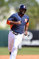 Houston Astros infielder Chris Carter (23) during a spring training game against the Miami Marlins on March 21, 2014 at Osceola County Stadium in Kissimmee, Florida.  Miami defeated Houston 7-2.  (Mike Janes/Four Seam Images)