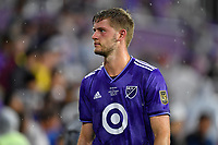 Orlando, FL - Wednesday July 31, 2019:  Walker Zimmerman #25 during the Major League Soccer (MLS) All-Star match between the MLS All-Stars and Atletico Madrid at Exploria Stadium.