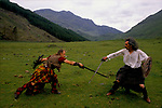 'THE CLAN' GROUP RE-ENACTING ANCIENT BATTLES.,