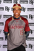 Karsonne Winters (15) of Palo Verde High School in Las Vegas, Nevada during the Baseball Factory All-America Pre-Season Tournament, powered by Under Armour, on January 12, 2018 at Sloan Park Complex in Mesa, Arizona.  (Mike Janes/Four Seam Images)
