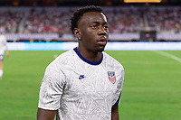DALLAS, TX - JULY 25: George Bello of the United States during a game between Jamaica and USMNT at AT&T Stadium on July 25, 2021 in Dallas, Texas.