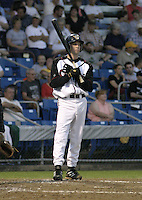 September 3, 2004:  Brett Grandstrand of the Williamsport Crosscutters during a game at Bowman Field in Williamsport, PA.  Williamsport is the Short Season Single-A NY-Penn League affiliate of the Pittsburg Pirates.  Photo By Mike Janes/Four Seam Images