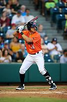 Richmond Flying Squirrels catcher Aramis Garcia (14) at bat during a game against the Trenton Thunder on May 11, 2018 at The Diamond in Richmond, Virginia.  Richmond defeated Trenton 6-1.  (Mike Janes/Four Seam Images)