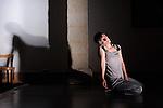 CHIMERE ENTRE DEUX OEUVRES..chorégraphe danseuse performer Muriel Piqué performer constructeur sonore Mathias Beyler..garde fou Stefan Delon..Compagnie : ..Lieu: Chapelle de la médiatheque..Ville : Uzes..Festival Uzes Danse 2011..le 19/06/2011..© Laurent Paillier / photosdedanse.com..All rights reserved