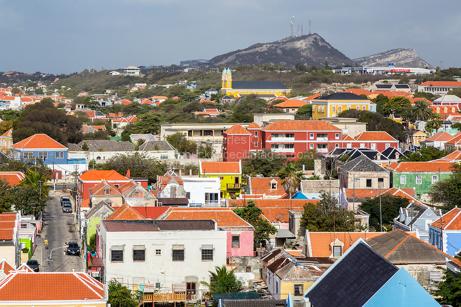 Willemstad, Curacao, Lesser Antilles.  City View.