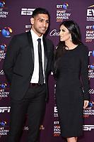 Amir Khan and wife, Faryal Makhdoom <br /> at the BT Sport Industry Awards 2017 at Battersea Evolution, London. <br /> <br /> <br /> ©Ash Knotek  D3259  27/04/2017