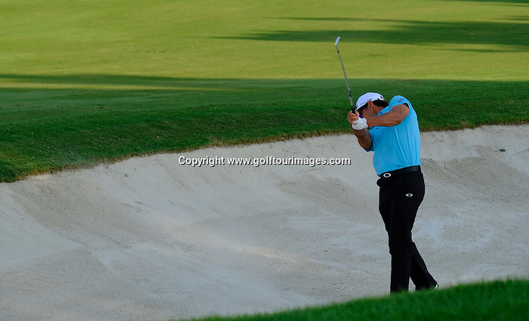 Rafa CABRERA-BELLO (ESP) during round one of the 2016 DP World Tour Championships played over the Earth Course at Jumeirah Golf Estates, Dubai, UAE: Picture Stuart Adams, www.golftourimages.com: 11/17/16