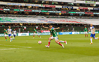 Mexico City, Mexico - Sunday June 11, 2017: Chicharito, Javier Hernandez, Geoff Cameron during a 2018 FIFA World Cup Qualifying Final Round match with both men's national teams of the United States (USA) and Mexico (MEX) playing to a 1-1 draw at Azteca Stadium.
