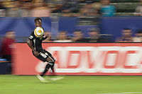 CARSON, CA - SEPTEMBER 15: Gerso #12 of Sporting Kansas City moves with the ball during a game between Sporting Kansas City and Los Angeles Galaxy at Dignity Health Sports Complex on September 15, 2019 in Carson, California.