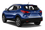 Car pictures of rear three quarter view of a 2019 Nissan Rogue Sport SL 5 Door SUV angular rear