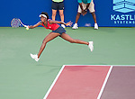 Venus Williams of the Kastles plays at the World Team Tennis match between the Washington Kastles and the Boston Lobsters on July 16, 2012 in Washington, DC.