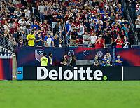NASHVILLE, TN - SEPTEMBER 5: Deloitte signage during a game between Canada and USMNT at Nissan Stadium on September 5, 2021 in Nashville, Tennessee.