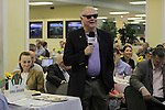 Barry Irwin of Team Valor International, owner of Preakness contender Animal Kingdom, speaks at the Alibi Breakfast at Pimlico Race Course in Baltimore, MD on May 19, 2011. Seated at left is his wife, Kathleen. (Joan Fairman Kanes/EclipseSportswire)