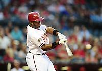 Apr. 25, 2011; Phoenix, AZ, USA; Arizona Diamondbacks outfielder Justin Upton against the Philadelphia Phillies at Chase Field. Mandatory Credit: Mark J. Rebilas-