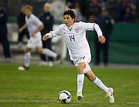 Francisco Torres carries the ball during a 2-2 tie with Costa Rica to put the USA in first place of CONCACAF 2010 World Cup qualifying, at RFK Stadium, in Washington DC, Wednesday, October 14, 2009.