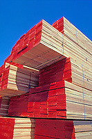 Stack of lumber, California