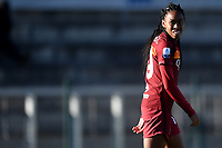 Lindsey Thomas of AS Roma reacts during the Women Italy cup round of 8 second leg match between AS Roma and Florentia S.G. at stadio delle tre fontane, Roma, February 14, 2021. Photo Andrea Staccioli / Insidefoto