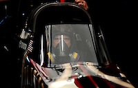 Feb. 27, 2011; Pomona, CA, USA; NHRA top fuel dragster driver Del Worsham during the Winternationals at Auto Club Raceway at Pomona. Mandatory Credit: Mark J. Rebilas-.