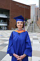 Dorotea Levy de Szekely at the Borough of Manhattan Community College (BMCC), Manhattan, NY.  Levy de Szekely, 68, is the co-valedictorian of her class at BMCC.  She is originally from Argentina, but lived and raised her family in Venezuela, before immigrating to New York City, where her daughter and grandchildren live.  This Fall she will attend Hunter College where she will pursue her bachelor's degree in English.<br /> <br /> https://nypost.com/2019/05/25/grandma-told-shed-never-graduate-high-school-becomes-college-valedictorian/