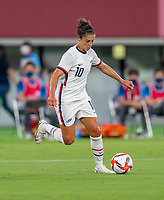 TOKYO, JAPAN - JULY 21: Carli Lloyd #10 of the USWNT dribbles during a game between Sweden and USWNT at Tokyo Stadium on July 21, 2021 in Tokyo, Japan.