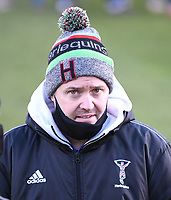6th February 2021; Recreation Ground, Bath, Somerset, England; English Premiership Rugby, Bath versus Harlequins; Billy Millard of Harlequins looks pleased with his team's performance
