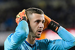 Goalkeeper Jaume Domenech Sanchez of Valencia CF reacts during the Copa Del Rey 2017-18 match between FC Barcelona and Valencia CF at Camp Nou Stadium on 01 February 2018 in Barcelona, Spain. Photo by Vicens Gimenez / Power Sport Images