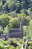 St. Kevin, Church, Glendalough, Ireland, Irish, ruins, abandoned, ancient, tombstone, stone, graves