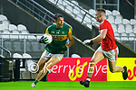 David Clifford, Kerry in action against Kevin Flahive, Cork, during the Munster GAA Football Senior Championship Semi-Final match between Cork and Kerry at Páirc Uí Chaoimh in Cork.