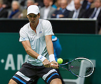 Rotterdam, The Netherlands. 16.02.2014. Tomas Berdych(TSJ) at the  ABN AMRO World tennis Tournament<br /> Photo:Tennisimages/Henk Koster