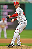 15 May 2012: Washington Nationals pitcher Ryan Perry on the mound against the San Diego Padres at Nationals Park in Washington, DC. The Padres defeated the Nationals 6-1 to split their 2-game series. Mandatory Credit: Ed Wolfstein Photo
